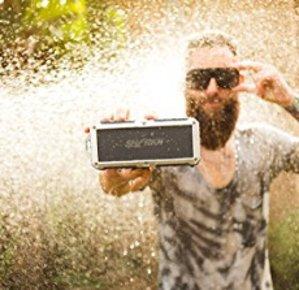 Sharkk ²O Bluetooth Speaker Waterproof Speaker Submersible Portable Speakers IP67 Outdoor Weatherproof Wireless Shower Speaker
