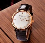 $674.25 Frederique Constant Men's FC306V4S5 Slim Line Analog Display Swiss Automatic Brown Watch