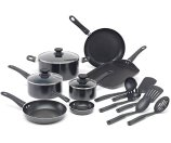 WearEver A787SG Complete Nonstick Oven Safe Easy to Clean Cookware Set, 16-Piece, Black: Kitchen & Dining