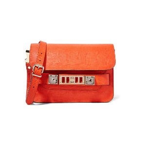 PROENZA SCHOULER PS11 Linosa mini textured-leather shoulder bag