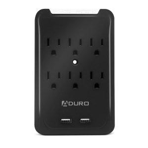 Aduro Surge Multi Charging Station w/ 6 AC Outlets & Dual USB Ports