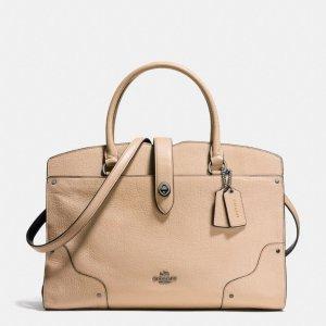 COACH Designer Handbags | Mercer Satchel In Colorblock Leather