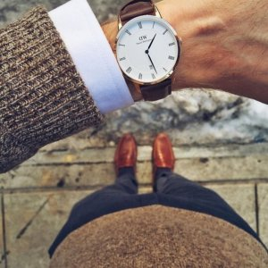 Dealmoon Exclusive! Daniel Wellington 1103DW Dapper Dial Brown Leather men's Watch