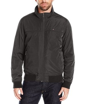 Tommy Hilfiger Men's Performance Barracuda Bomber with Logo At Back Neck