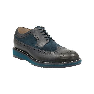Clarks Dark Blue Kenley Limit Leather Wingtip | zulily