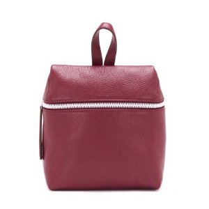 TIBETAN RED W/ WHITE PEBBLE LEATHER BACKPACK