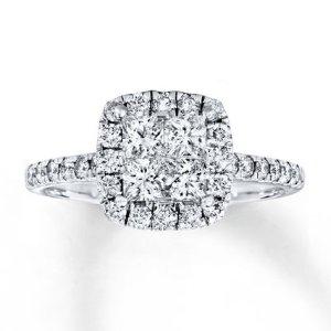 Kay - Diamond Engagement Ring 1 ct tw Princess-cut 14K White Gold