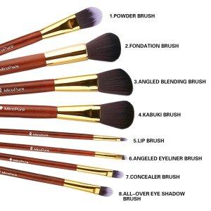 $4.00 8-Piece MiroPure Professional Makeup Brush Set