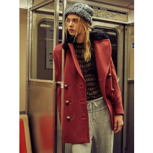 Red Sedgwick Peacoat at Free People Clothing Boutique