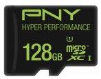 $69 PNY - 128GB microSDHC Class 10 UHS-I/U1 Memory Card - Multi