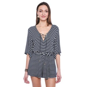 Lovers + Friends Striped Cruiser Romper   South Moon Under