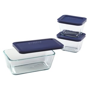 $8.31 Pyrex Simply Store 6-Piece Glass Food Storage Set