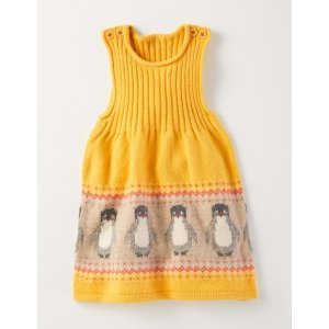 Fun Knitted Pinafore Dress 71527 Dresses at Boden