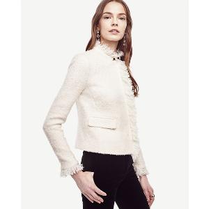 Fringe Tweed Jacket | Ann Taylor