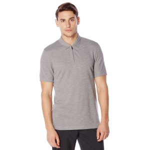 Short Sleeve Zip Collar Polo