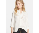 Free People The Carter Top Ivory Combo - 6pm.com