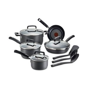 T-Fal Hard-Anodized 12-Pc. Cookware Set - Cookware & Cookware Sets