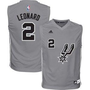 adidas Youth San Antonio Spurs Kawhi Leonard #2 Grey Jersey| DICK'S Sporting Goods