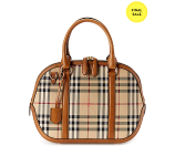 Burberry Orchard Small Horseferry Check & Leather Shoulder Bag