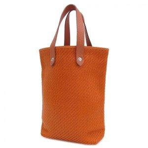 (2) orange Leather HERMÈS Handbag - Vestiaire Collective