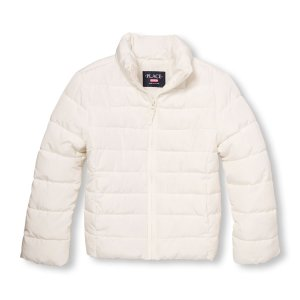 Girls Long Sleeve Solid Lightweight Puffer Jacket | The Children's Place