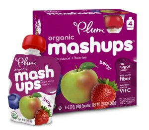 $14.34 24 pouches Prime Member Only Plum Kids Organic Fruit Mashups, Mixed Berry, 3.17 Ounce, 4 Count (Pack of 6)