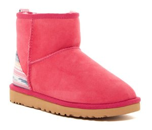 UGG Classic Mini Serape Genuine Shearling Boot