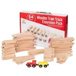 USA Toyz Wooden Train Track Expansion Pack for Kids, 54-Piece