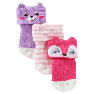 Toddler Girl 3-Pack Animal Terry Socks | OshKosh.com