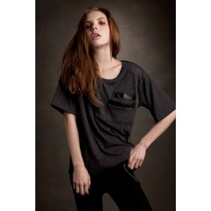 LnA Sweater Tee in Grey and Black