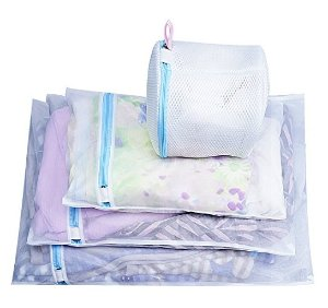 Mesh Laundry Bags Set of 7, LEYOSOV Delicates Laundry Wash Bags (1 Extra Large, 2 Large, 2 Medium and 2 Bra Washing Bags)