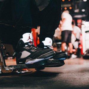 $160 Boys' Grade School Air Jordan Retro 5 Basketball Shoes
