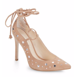 Isa Tapia - Walska Star-Studded Suede Lace-Up Pumps - saksoff5th.com