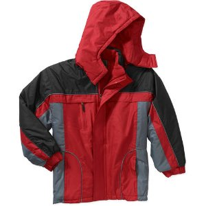 Climate Concepts Boys' Fleece Lined Jacket with Removable Hood