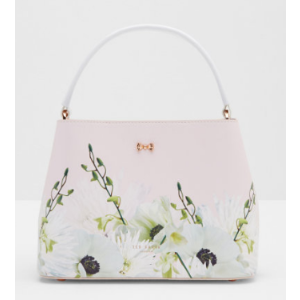 Pearly Petal small leather tote bag - Nude Pink | Bags | Ted Baker