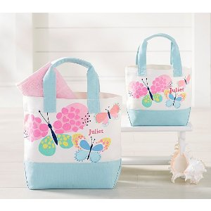 Beach Butterflies Preppy Icon Tote | Pottery Barn Kids