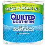 2 for $16.62 + $5GC Quilted Northern Ultra Soft & Strong™ Toilet Paper 12 Mega Rolls