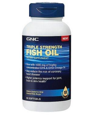 GNC Triple Strength Fish Oil 60 softgels