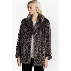 Nariko Fur Double Breast Coat   Flash Sale   French Connection Usa