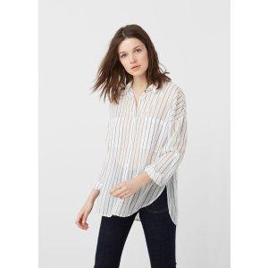 Cotton shirt - Woman | MANGO USA