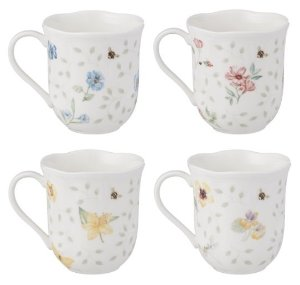 $25.89 Lenox Butterfly Meadow Mug, 10-Ounce, Assorted Colors, Set of 4