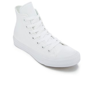 Converse Chuck Taylor All Star II Hi-Top Trainers - White/White/Navy - Free UK Delivery over £50