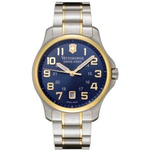 Victorinox Swiss Army Men's Officer's Blue Dial Two Tone Stainless Steel | World of Watches