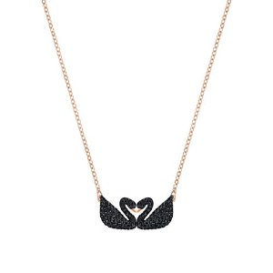 Swan Crystal Studded Pendant Necklace