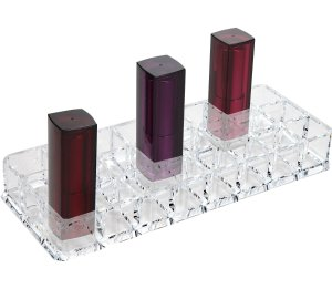 Acrylic Lipstick Organizer with 24 Spaces by DecoPlast (24 SPACES)