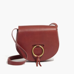 Extra 30% Off The Lisbon O-ring Saddlebag in Leather @ Madewell