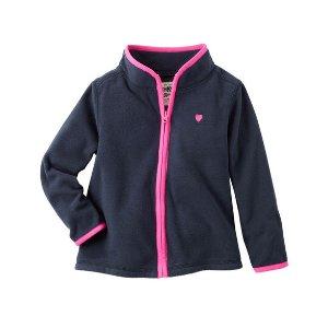 Kid Girl Full-Zip B'gosh Fleece Cozies | OshKosh.com