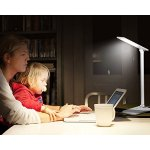 TaoTronics LED Desk Lamp, Dimmable LED Table Lamp, Cool White Reading Light, Eye-caring Book Ligh