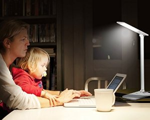 $15.99 TaoTronics LED Desk Lamp, Dimmable LED Table Lamp, Cool White Reading Light, Eye-caring Book Ligh