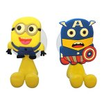 2 x Easem Minions Toothbrush Holders with Suction Cup